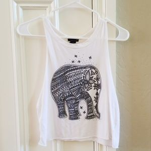 Cropped White Elephant Tank